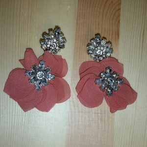 BaubleBar Gold/Peach Chiffon Earrings